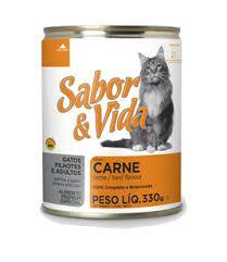 Sabor & Vida Lata gatos Sabor Carne