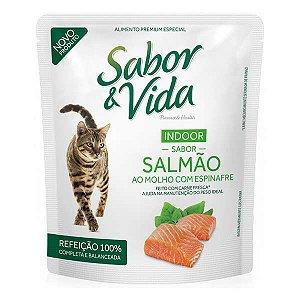 Sachê Sabor & Vida Gatos - Salmão ao Molho de Espinafre