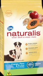 Naturalis Cães filhotes - Frango, Peru & Frutas