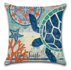 Capa de almofada tartaruga marinha
