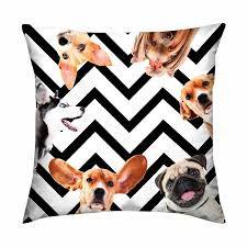 Capa de almofada Dogs Chevron