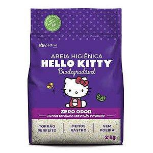 Areia Higiênica Hello Kitty Lilás 2kg