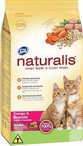 Fardo ração Naturalis frango e vegetais gatos adultos