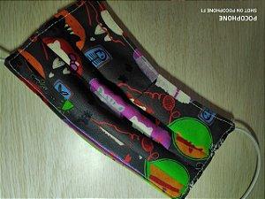 Máscara reutilizável em tecido Miau