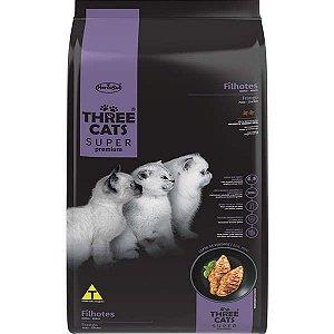 Ração Seca Three Cats Super Premium Frango para Gatos Filhotes