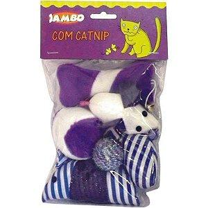 Pacote brinquedos com catnip