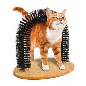 Brinquedo Massageador e  arranhador com atrativo para gatos