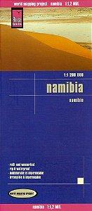 Mapa rodoviário da Namíbia