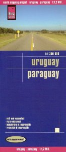 Mapa rodoviário do Uruguai & Paraguai