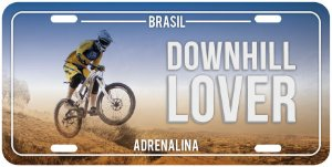 "Placa Decorativa Bike ""Downhill Lover"""
