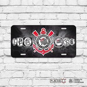 """Placa Decorativa Corinthians """"Evolução"""""""