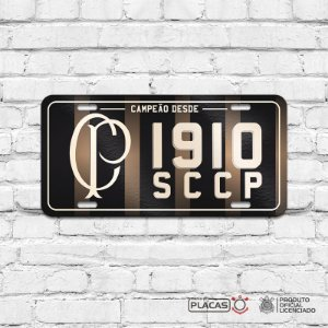 "Placa Decorativa Corinthians ""SCCP 1910"""