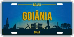 Placa Decorativa GOIÂNIA