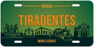 Placa Decorativa Turismo - Tiradentes