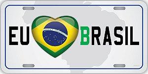 Placa Decorativa Eu Amo Brasil