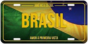 Placa Decorativa BRASIL BANDEIRA