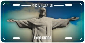 Placa Decorativa RJ - Cristo Redentor