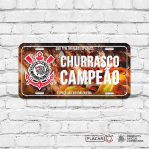 Placa Decorativa Corinthians  - Churrasco