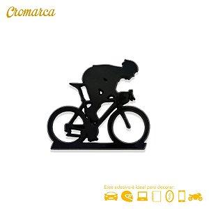 Adesivo PRETO - Ciclista - Triathlon