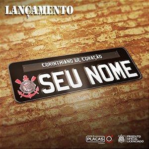 Placa Corinthians Personalizada Oficial