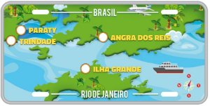 Placa Decorativa Turismo -  ANGRA DOS REIS