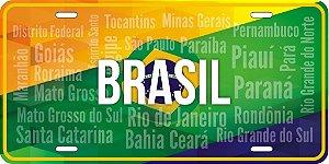 Placa Decorativa Turismo -  BRASIL