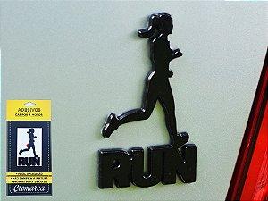 Adesivo PRETO - Run Women Corredora