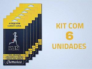 KIT 6 Adesivos - Run Woman Corredora - Cromado