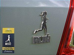 Adesivo CROMADO - Run Woman Corredora