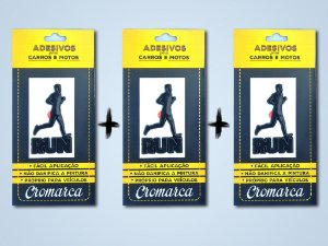 Kit 3 Adesivos PRETO - Run Man Corredor