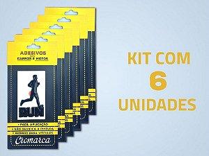 Kit 6 Adesivos - Run Man Corredor - Preto