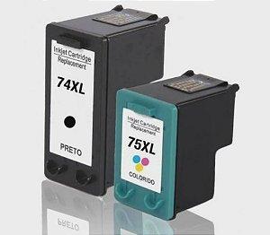 Kit Cartucho de Tinta Mecsupri Compatível 74XL Black ( CB335WL / CB336WL) - 75XL Color (CB337WL / CB338WL)