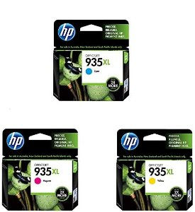 Kit Cartucho de Tinta HP 935XL Colorido Original - 01 ciano C2P24AL 01 magenta C2P25AL amarelo C2P26AL com 9,5ml cada