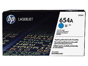 Cartucho de toner LaserJet ciano HP 654A original (CF331A)