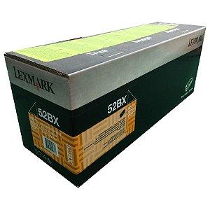 Cartucho de Toner Preto Lexmark 524X/52D4X00 - 52BX/52DBX00 - 45.000 Pág Original