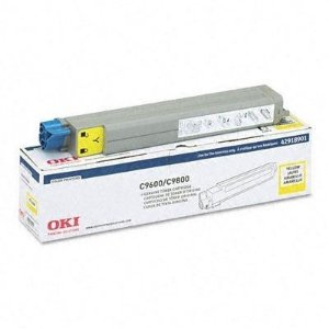Toner Original Okidata 42918901 C9600hdn C9600n C9800hdn C9800hn AMARELO