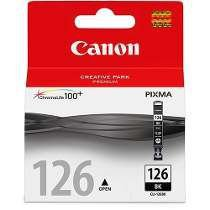 Cartucho Canon preto CLI126BK Elgin CX 1 UN Original