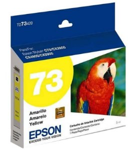 Cartucho Tinta Epson Durabrite Ultra 73N - T073420 Amarelo