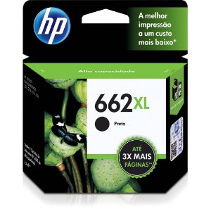 Cartucho HP 662XL Preto CZ105AB  Original
