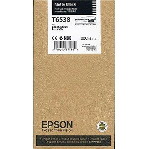 Cartucho de Tinta Epson T6538 Matte Black p/ Stylus Pro 4900 Original
