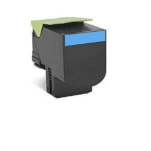 Cartucho de Toner Mecsupri compatível com Lexmark 70C8HC0 708hc Cs310 Cs410 Cs510 Cyan