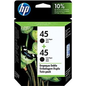 Cartucho HP 45 twin pack (02x 51645al 42ml) preto c6650fl HP CX 1 UN