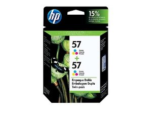 Cartucho de Tinta HP 57 Color C9320FL TWIN PACK ou (2xC6657AL)