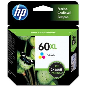 Cartucho de Tinta HP 60XL Tricolor Alto Volume - CC644WB
