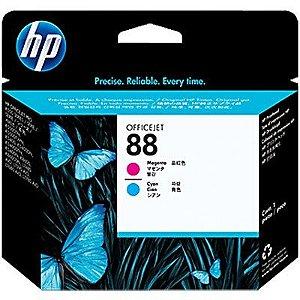 Cabeçote de impressão C9382A original magenta e ciano HP 88