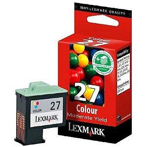 Cartucho de Tinta Lexmark 27 Colorido Moderado (10N1193)