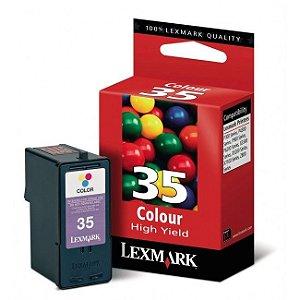 Cartucho Lexmark 18C0035 Colorido | 35 | Original Lexmark