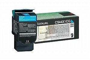 Cartucho de Toner Lexmark C544 Azul C544X1CG Original