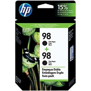Cartucho HP 98 twin pack Preto C9514FL (ou 2 cartuchos C9364WL)  Original
