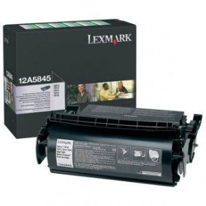 Toner Lexmark 12A5845 Preto Original